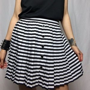 Candie's   Pleated Striped Skirt